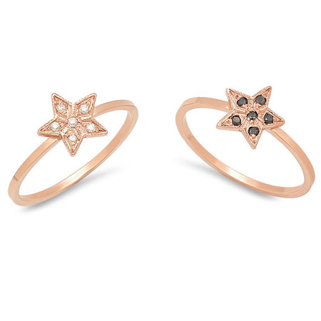 Tiny Rabbit's Ears Diamond Ring