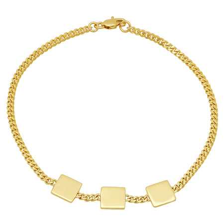 Custom-made Gold Chain Bracelet