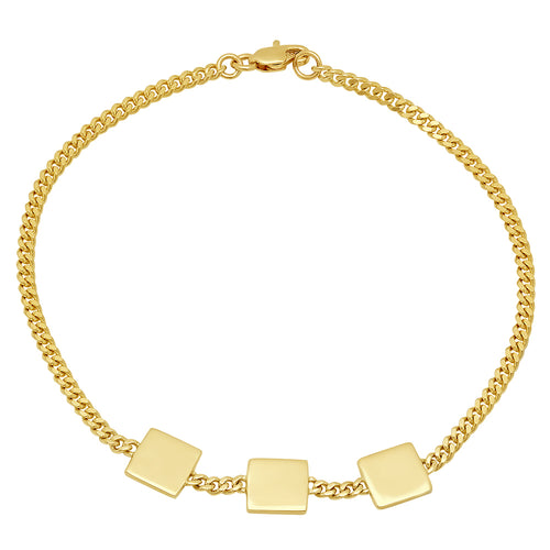 Flawless Square Shaped Gold Bracelet