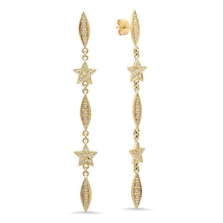 Glistering Frost Diamond Dangle Earrings