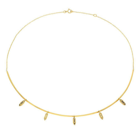 Modish Starburst Diamond Lariat Necklace