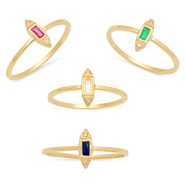 The Modest & Forever After Precious Gemstones Ring