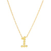 DSJ's Signature Gold Number Necklace