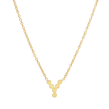 DSJ's Signature Meaningful MA Gold Initial Necklace