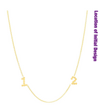 (2 Initials) DSJ's Signature Meaningful Multi Birthstone & Initial Necklace