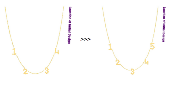 (Add-On) New Meaningful Initial/Number/Heart To Your Existing Dana Seng Necklace