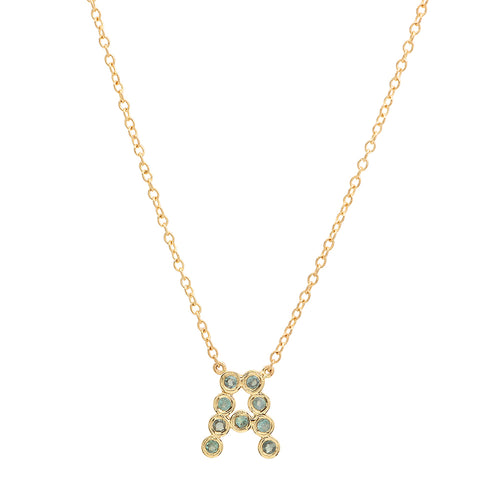 DSJ's Signature Birthstone & Initial Necklace