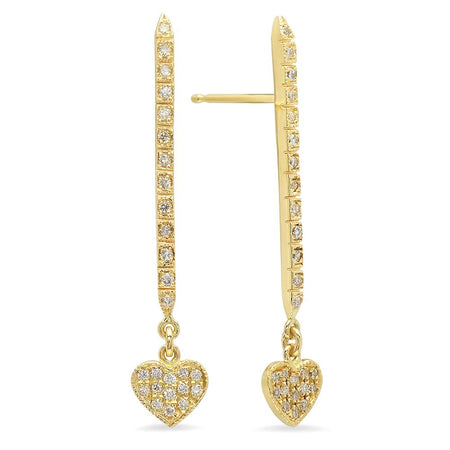 Circlet Diamond Chain Fringe Earrings