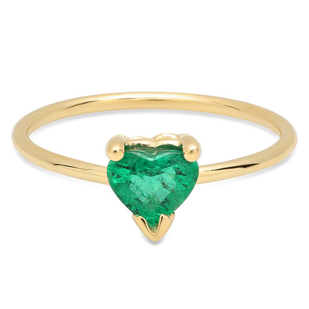Baby Heart Twisted Gold Ring