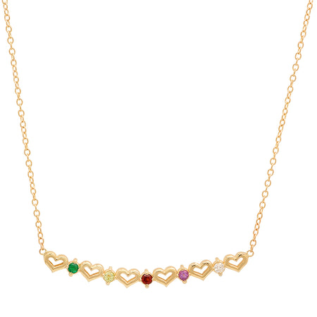 Safety Pin Gemstone Necklace
