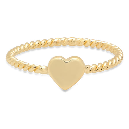 Twisted Infinity Gold Band