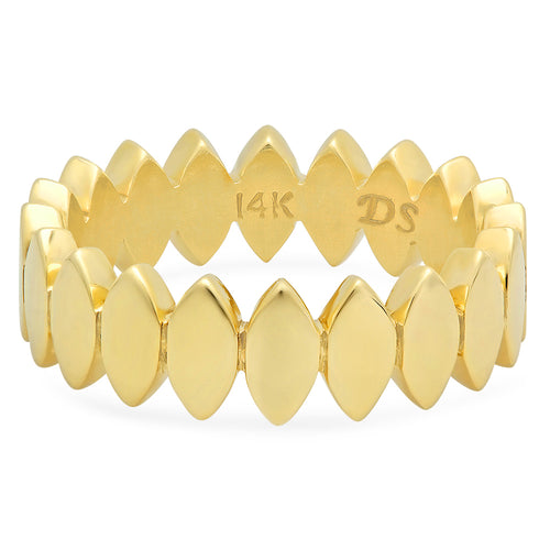 Gold Almond Stackable Ring