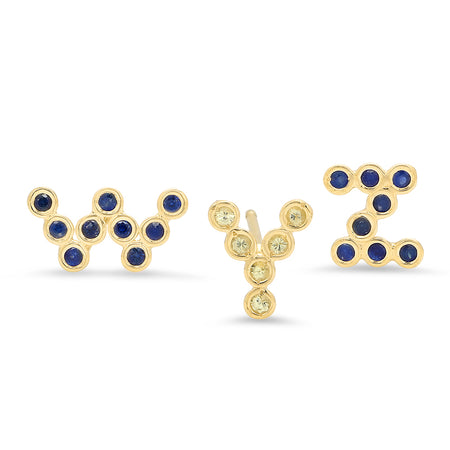 DSJ's Signature Meaningful Number & Birthstone Stud Earring