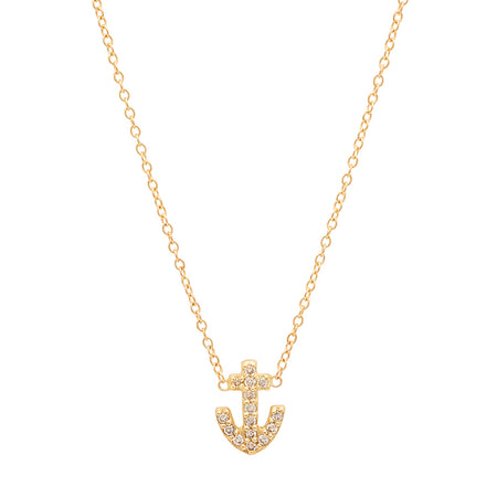 Safety Pin Diamond Necklace