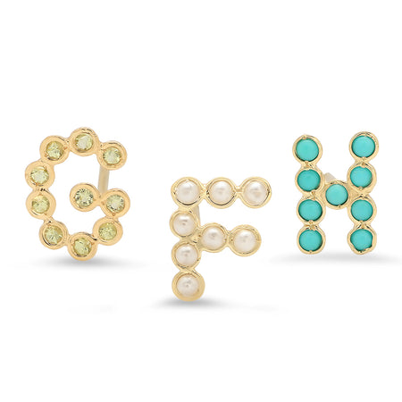 Mini Half Moon Gold Stud Earrings