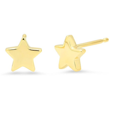 Simple Gold Stud Earrings