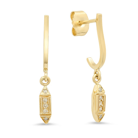 Elegant & Chic Diamond Dangle Earrings