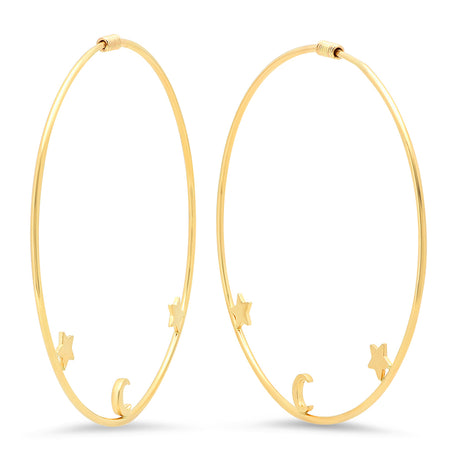 Heart Blossom Hoop Earrings