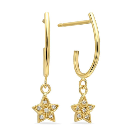 Modish Starburst Diamond Dangle Earrings