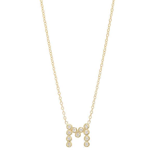 DSJ's Signature Meaningful Birthstone & Initial Necklace