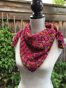 Kerchief scarf, hand dyed