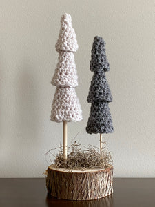 Double Tree (2 trees, one base) (taupe, dark grey)