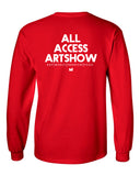 """Art Saved My Life"" Long Sleeve Shirt (Red)"