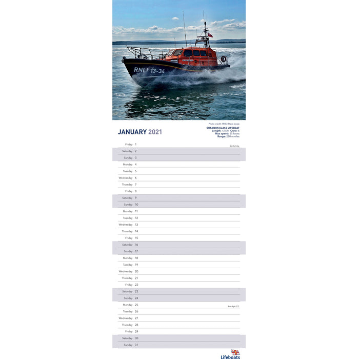 2021 Lifeboats In Action Calendar