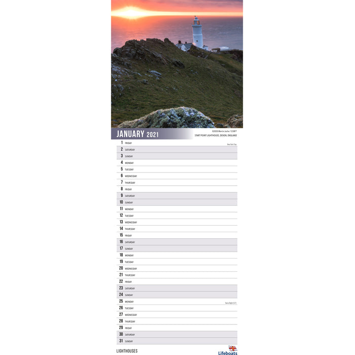 2021 Lighthouses Calendar