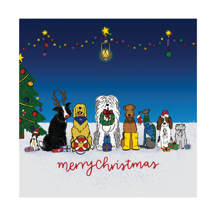 Christmas Dogs, Pack of 10 Christmas Cards
