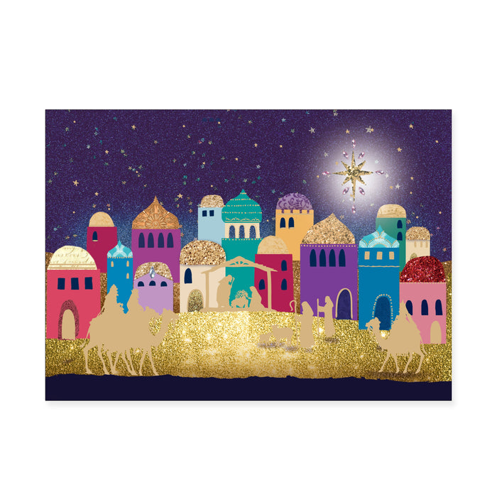 Christmas Nativity, Pack of 10 Bi-lingual Welsh/English Christmas Cards