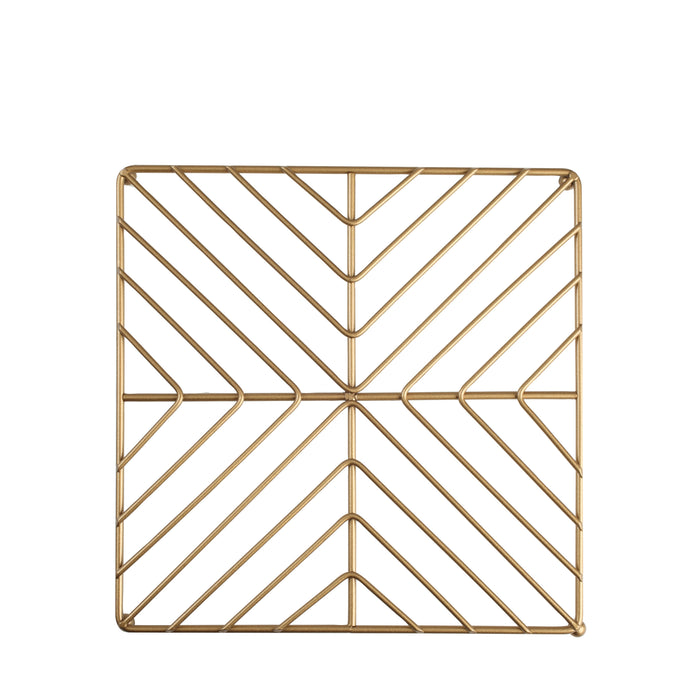 Deco Square Trivet Satin Gold