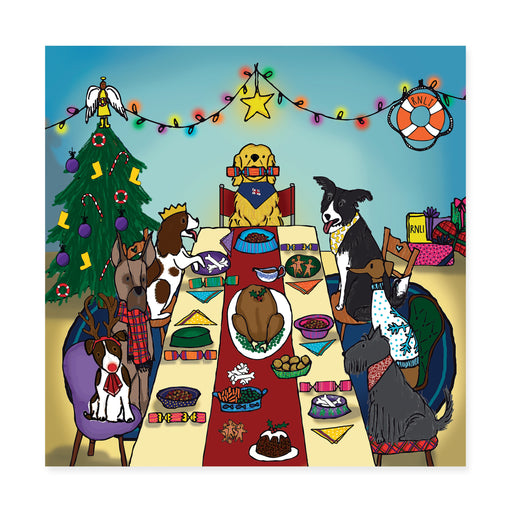 Dog's Dinner, Pack of 10 Christmas Cards