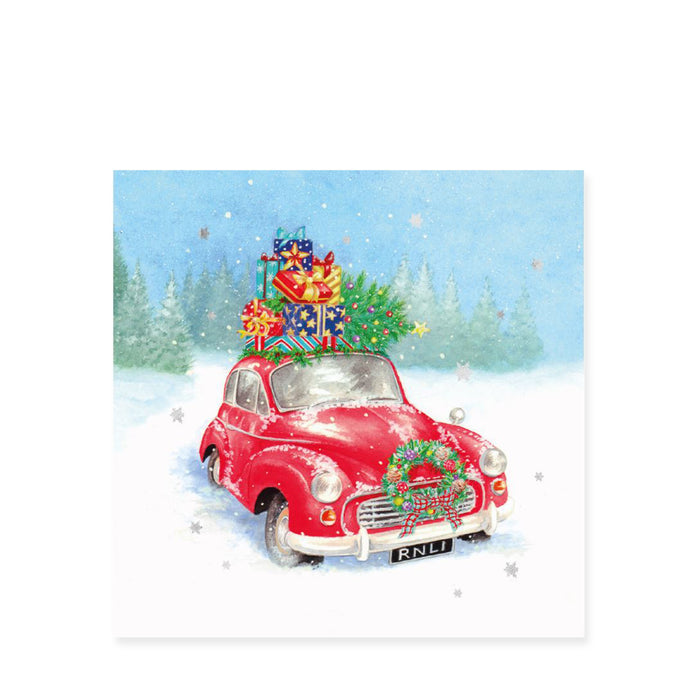 Driving Home for Christmas, Pack of 8 Christmas Cards
