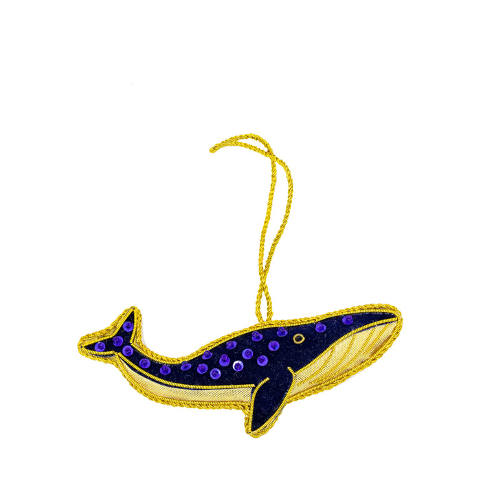Embroidered  Whale Hanging Decoration