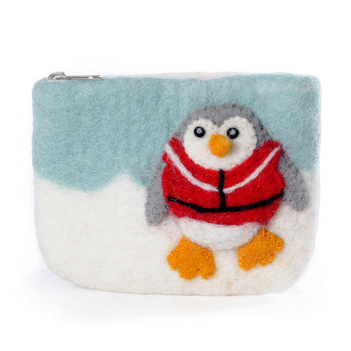 Fair Trade Felt Penguin Purse