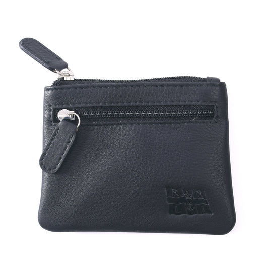 Flag Leather Coin Purse Black