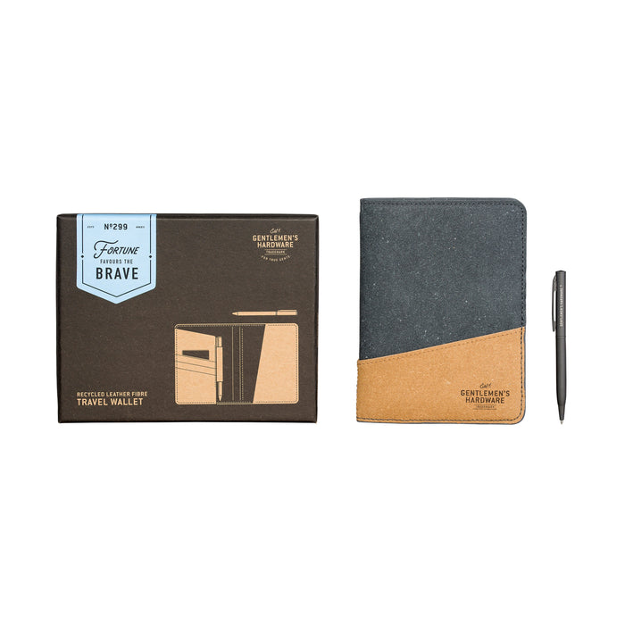 Gentlemen's Hardware Recycled Leather Fibre Travel Wallet
