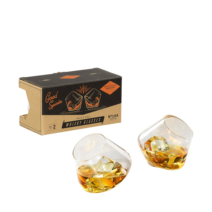 Gentlemen's Hardware Rock and Roll Whisky Glasses, Set of 2