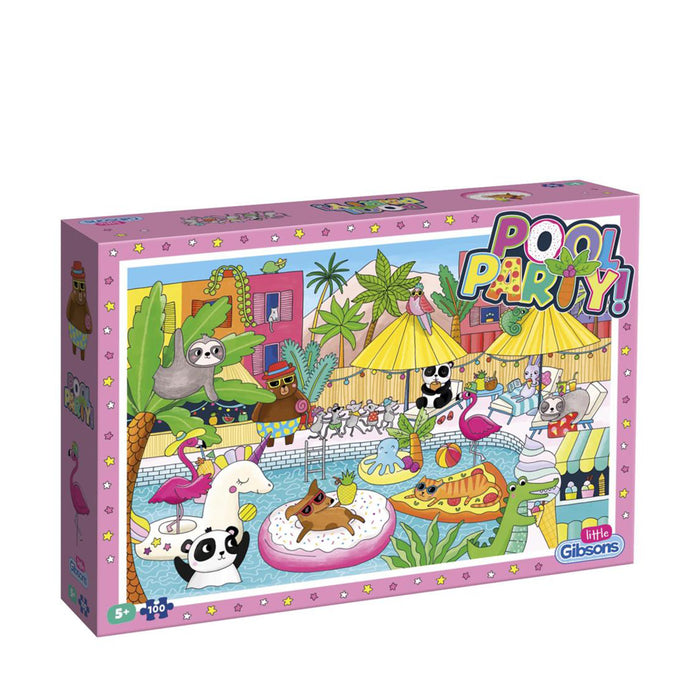 Gibsons Pool Party Childrens Jigsaw Puzzle, 100 Pieces