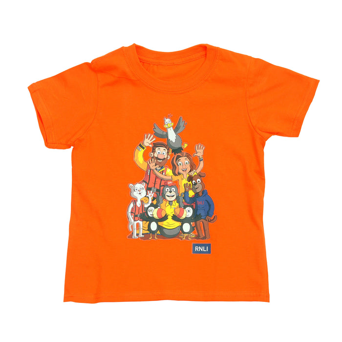 Kids Storm Force T-Shirt Orange