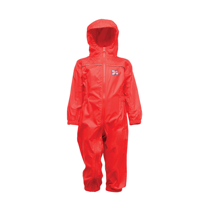 Kids Waterproof Rain Suit Red
