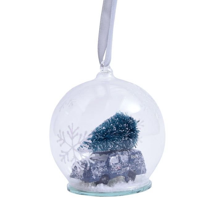 Lifeboats Christmas Tree Glass Bauble