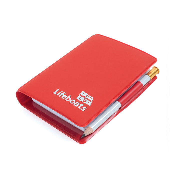 Lifeboats Pocket Notepad and Pencil Red