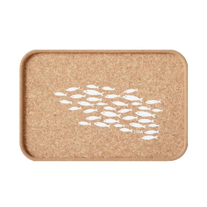 Liga Cork Fish Drinks Tray