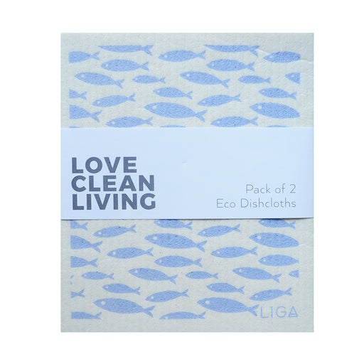 Liga Eco Dish Cloth, Pack of 2
