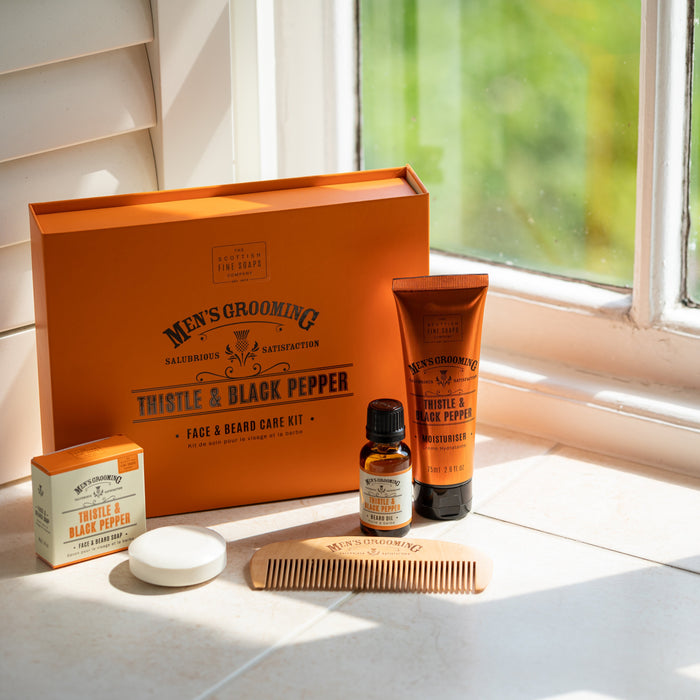 Men's Grooming Face and Beard Care Kit