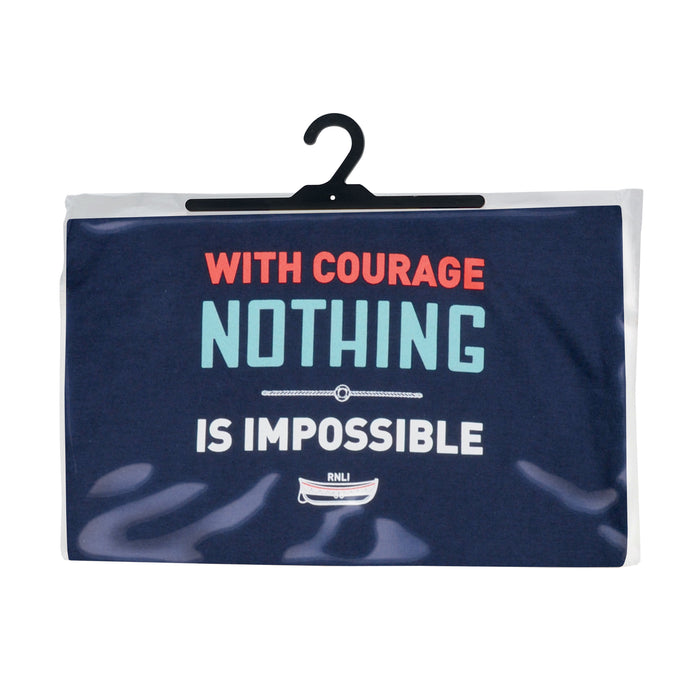 Men's With Courage T-Shirt Navy