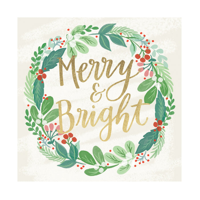 Merry and Bright, Pack of 10 Christmas Cards