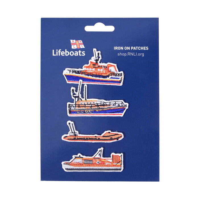 RNLI Fleet Iron On Badges, Pack 1